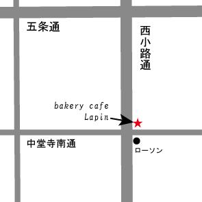 Caféラパン 地図